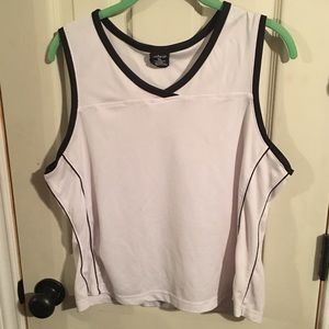 White and black workout tank top